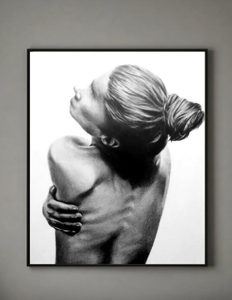 """PROGETTO """"DONNE SENZA VOLTO"""" – grafite e carboncino su carta strathmore – 21×29,7cm"""