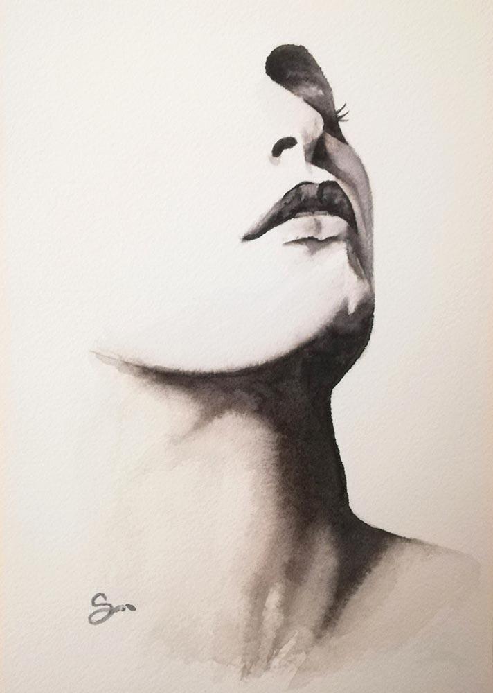 FALL IN LOVE – acquerello su carta arches – 14,8x21cm